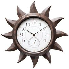 AcuRite Indoor/Outdoor Sun Clock Wall Mount with Thermometer Home Decor Bronze