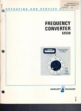 Original Hewlett Packard 5253B Frequency Converter Ops&Service Manual 05253-9015