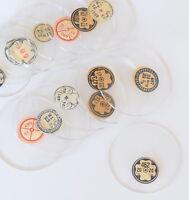 TASCHENUHRGLAS D 365-498 Uhrglas Glas m Facette f. Taschenuhr pocket watch glass
