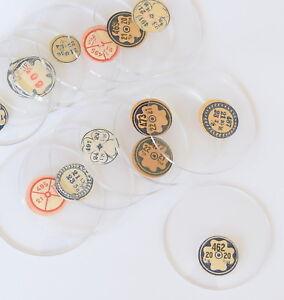 TASCHENUHRGLAS D 365-498 Uhrglas Glas m Facette f Taschenuhr pocket watch glass