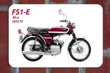 Vintage Tin Sign Yamaha FS1E Popsicle Purple Moped Motorbike Metal Sign Man Cave