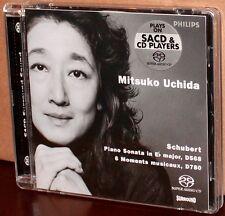 PHILIPS SACD: Schubert Piano Sonata D568; Moments musicaux, D780 - UCHIDA, 2002