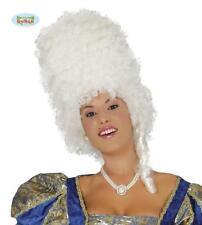 Parrucca Milady Bianco Dama Travestimento Donna Carnevale Teatro Antonietta