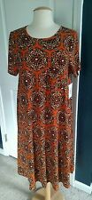 LulaRoe Carly Dress, Burnt Orange, Medium NWT Beautiful Coloring