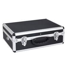 Alukoffer Werkzeugkoffer Werkzeugkiste - variable Einteilung + Tragegurt schwarz