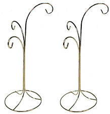 "Ornament Display Stand Holder Hanger has 3 Hooks, 13"" Tall -Pack of 2 Stands"