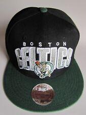 Boston Celtics NBA Adjustable Snapback Black w/Green Hat Cap - Read Description