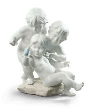 LLADRO CHILDREN'S CURIOSITY FIGURINE #9174 BRAND NIB CUTE MATTE WHITE SAVE$ F/SH