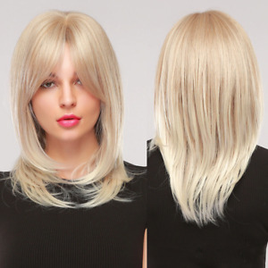 Longue Perruque Luxe Sexy Adulte Femme Cheveux Blonde Wigs Afro Blond