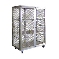 New Age 97621 Mobile Security Cage W/ 3 Interior Shelves