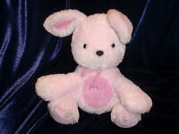 CARTER'S CHILD OF MINE PINK LAUGHING GIGGLING BUNNY RABBIT DOG PLUSH LOVEY PRESS