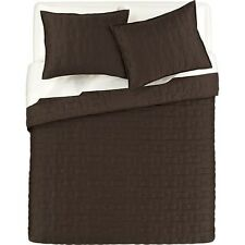 Crate & and Barrel ANUJAH COCOA Coverlet/Quilt-KING/2 KING Shams- NWOT