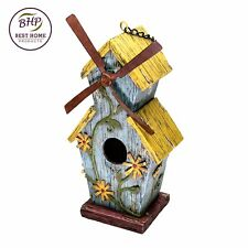 Windmill Birdhouse Ye Ol' Mill Nature Lovers Bed & Breakfast Gifts Decor Hanging