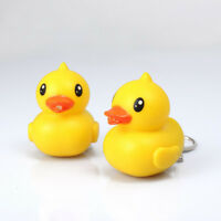 Cute Duck LED Keychain with Sound Key Holder Mini Torch Flashlight Kid Toy;