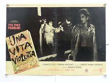 UNA VITA VIOLENTA dramma di Heusch e Rondi con Citti Vergano fotobusta 1962