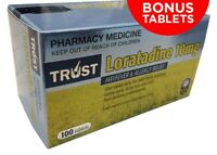 150 TABLETS* Trust Loratadine 10mg  (SAME AS CLARATYNE 10MG) ( 100 PLUS 50 FREE)