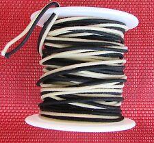 """25 ft"""" Gavitt Cloth Push Back 22 ga Guitar Wire Black & White For Vintage Guitar"""