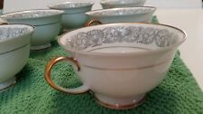 CLASSIC ROSE TEA CUPS BY ROSENTHAL GROUP GERMANY (6 CUPS)