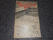 DERBY COUNTY  v  HUDDERSFIELD TOWN   1951/2  DEC 26  BOXING DAY  CHRISTMAS COVER
