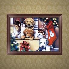 Christmas Dog 5D Diamond Embroidery Painting Cross Stitch DIY Craft Home Decor