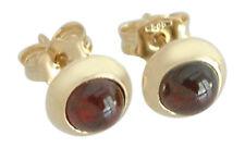 Granat Ohrstecker Gold 585 mit Granaten - Cabochons - Goldohrstecker - Ohrringe