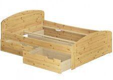 Funktionsbett Doppelbett + 3 Bettkästen 140x200 Seniorenbett Kiefer 60.50-14 oR