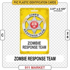 Zombie Response Team ID Card PVC Plastic Badge ZRT ZERT Identification - C 28