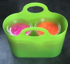 16oz (4 x 4oz pots) Slime Putty Gift Basket, Neons In Carry Bag No Borax