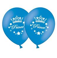 "Prince - 12"" Printed Dark Blue Latex Balloons pack of 8  by Party Decor"