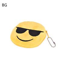 Emoji Smile Coin Bag Small Wallet Women Girl Soft Plush Purse Bag Handbag 3c BG