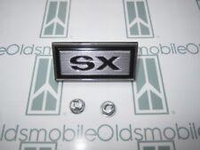 "1970-1971 Olds Cutlass Supreme Front Fender ""SX"" Emblem with Hardware"