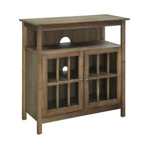 Convenience Concepts Big Sur Highboy TV Stand, Driftwood - 8066070DFTW