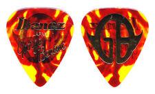 George Benson Signature Monogram Ibanez Brown Faux Tortoise Tour Guitar Pick
