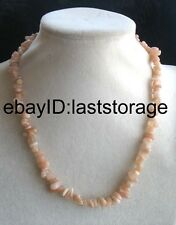 amazing wholesale pink moonstone baroque 5-8mm necklace 17inch nature beads