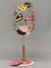 "Lolita Love My Wine  ""BIRTHDAY CAKE"" Wine Glass Goblet"
