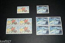 BLOCK OF 4 AND SINGLE Monaco, #505-06 MNH-XF STAMPS