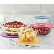 Pyrex 8-piece Glass Sculpted Mixing Bowls With Lids, Food Storage