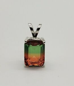 1.8ct Watermelon Tourmaline Sterling Silver Necklace