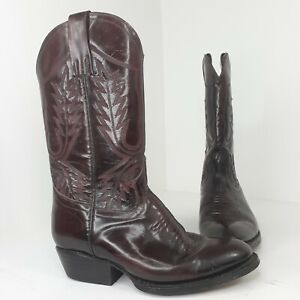Vintage La Gran Bota Mexico Leather Cowboy Boots Size 36 /5-6? Brown/Burgundy