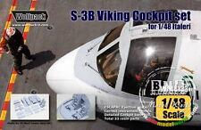 Wolfpack WP48133 1/48 S-3B Viking Wing Cockpit Set for Italeri kit