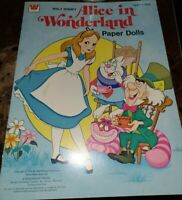 Whitman ~ Disney ~ Alice In Wonderland ~Vintage 1976 Paper Dolls Book New UNCUT