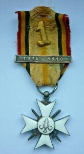 Orden, Belgien, König Albert, Silbernes Zivil-Ehrenkreuz 1914-1918 (Art.5003)