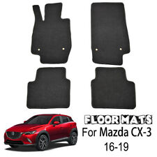 Car Floor Mats For Mazda CX-3 16-19 Carpet Black Nylon Front Rear
