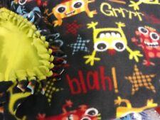 Fleece fabric no sew blanket - Monsters