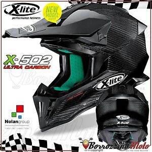 Casque Moto Cross Enduro Hors Route X-LITE X-502 X502 Ultra Carbone Puro 001 XXS