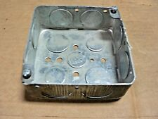 "THOMAS & BETTS  (6 PER PURCASE)  52151-3/4-W 4"" Square Outlet Box 1½"" Deep 1/2"""