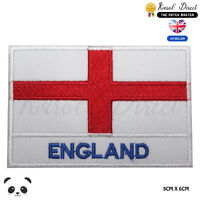 England National Flag With Name Embroidered Iron On Sew On Patch Badge