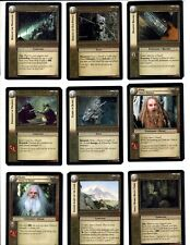 LORD OF THE RINGS LoTR MINES OF MORIA MoM COMPLETE SET OF 122 CARDS PLUS MORE