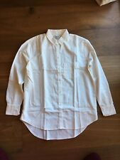 Authentic Madewell Drapey Oversized Boyshirt in Pure White XXS $72 NWT