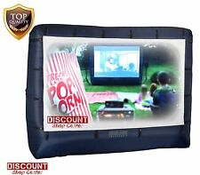 Inflatable Movie Screen Outdoor Widescreen Backyard Home Cinema Tv Projector New